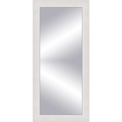 Espejo rectangular espiral blanco 152 x 57 cm