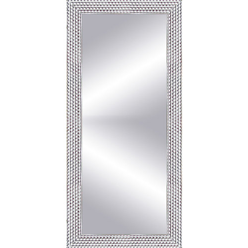 Espejo vestidor rectangular espiral plata 152 x 57 cm