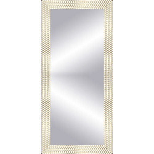Espejo rectangular espiral gris 152 x 57 cm