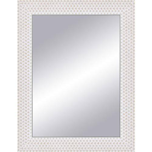 Espejo rectangular espiral blanco 87 x 67 cm