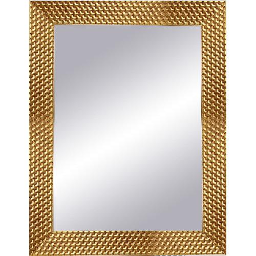 Espejo rectangular espiral oro 87 x 67 cm