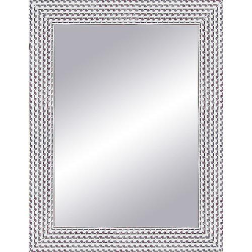 Espejo rectangular espiral plata 87 x 67 cm