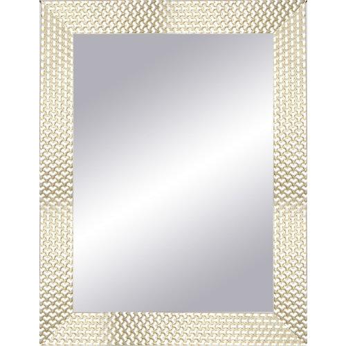 Espejo rectangular espiral gris 87 x 67 cm