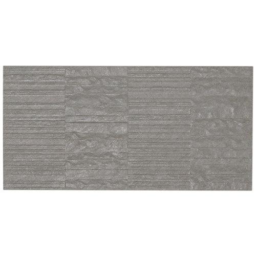 Revestimiento porcelánico everest artens teselas gris 31,6x63,7 cm