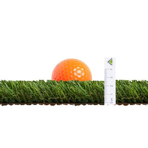 Rollo de césped artificial alimia naterial 1x5 m y 25 mm de altura de fibras