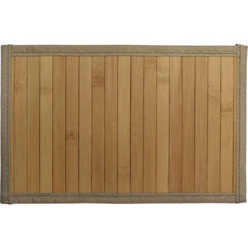 Alfombra color beige liso bambú 120cm x 180cm