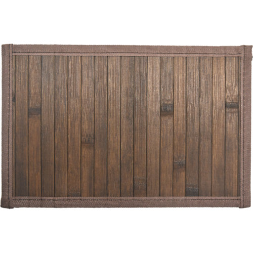 Alfombra color marrón liso bambú 160cm x 230cm