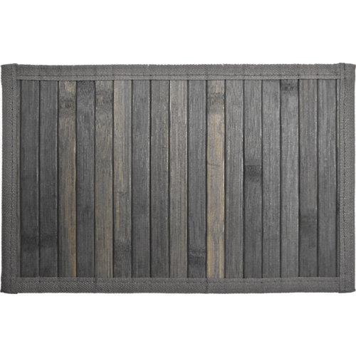 Alfombra color gris / plata liso bambú 160cm x 230cm