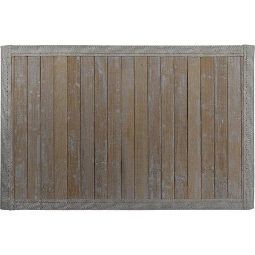 Alfombra color blanco liso bambú 160cm x 230cm
