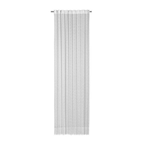Visillo louison con motivo rayas gris de 280 x 300 cm
