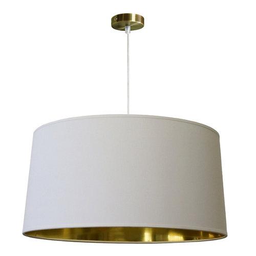 Lámpara de algodón cónico d38 en blanco/oro