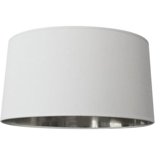 Lámpara de algodón cónico d38 blanco/plata