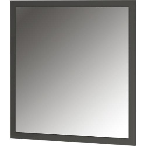 Espejo de baño asimétrico gris / plata 100 x 70 cm