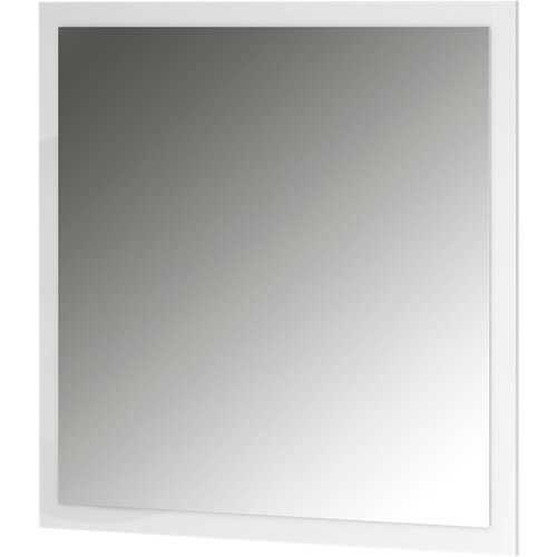 Espejo de baño asimétrico blanco 100 x 70 cm