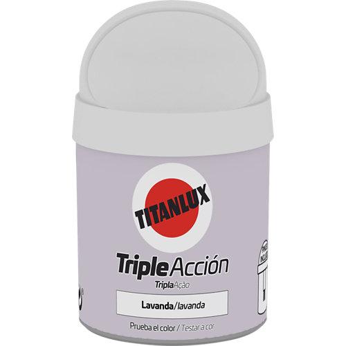 Pintura tester triple acción titanlux 75ml lavanda