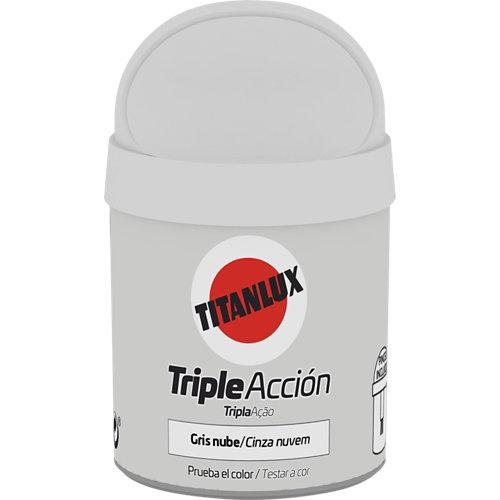 Pintura tester triple acción titanlux 75ml gris nube
