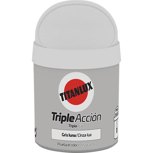 Pintura tester triple acción titanlux 75ml gris luna