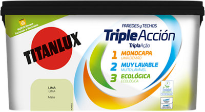 Pintura Triple acción TITANLUX 4L lima