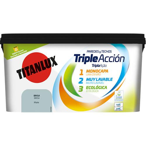 Pintura triple acción titanlux 4l brisa