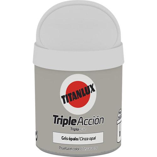 Pintura tester triple acción titanlux 75ml gris ópalo