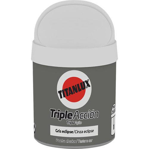 Pintura tester triple acción titanlux 75ml gris eclipse