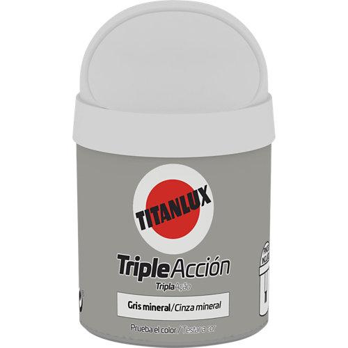 Pintura tester triple acción titanlux 75ml gris mineral