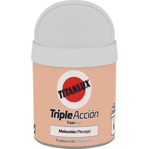 Pintura tester triple acción titanlux 75ml melocotón