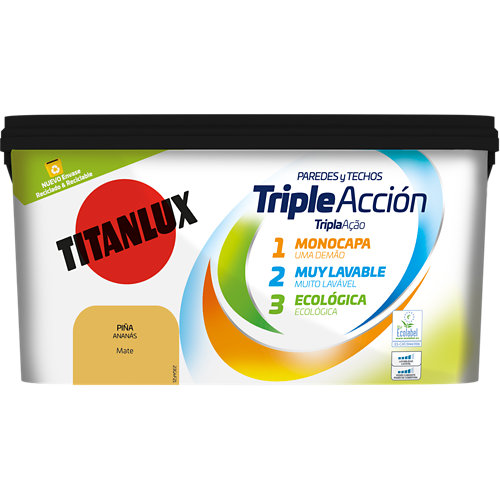 Pintura triple acción titanlux 4l piña