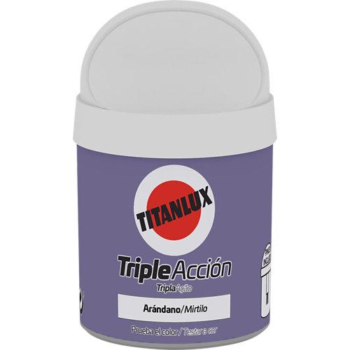 Pintura tester triple acción titanlux 75ml arándano