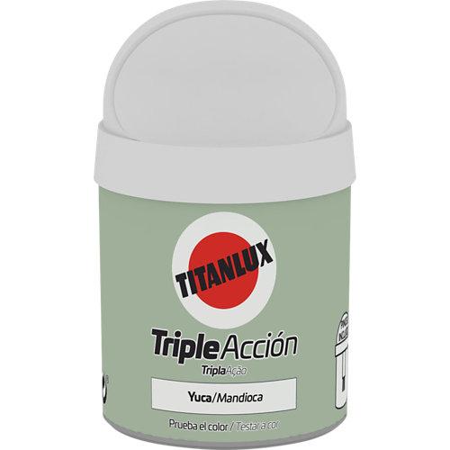 Pintura tester triple acción titanlux 75ml yuca