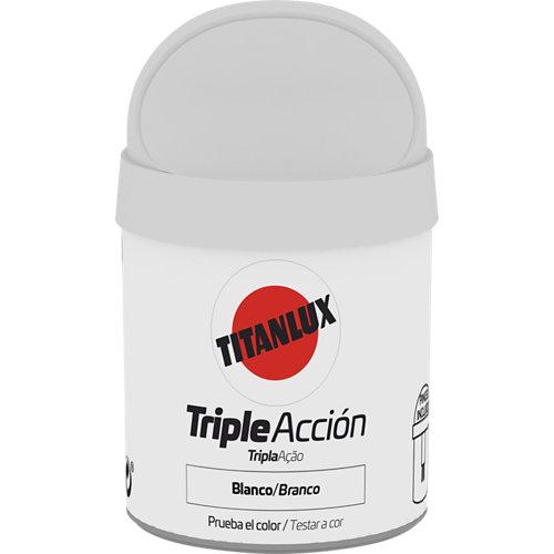 Pintura tester triple acción titanlux 75ml blanco