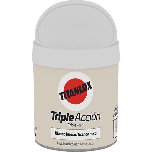 Pintura tester triple acción titanlux 75ml blanco hueso