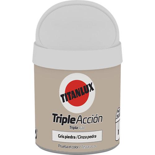 Pintura tester triple acción titanlux 75ml gris piedra