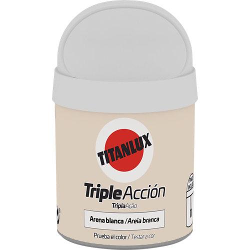 Pintura tester triple acción titanlux 75ml arena blanca
