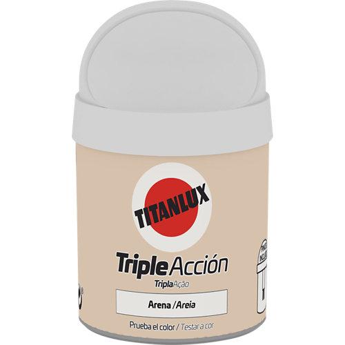 Pintura tester triple acción titanlux 75ml arena