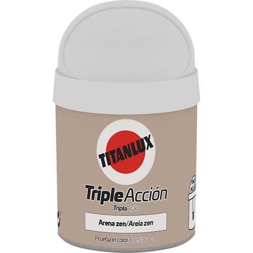 Pintura tester triple acción titanlux 75ml arena zen