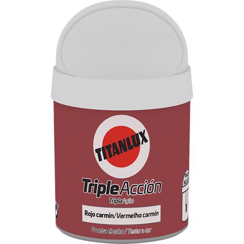 Pintura tester triple acción titanlux 75ml rojo carmín