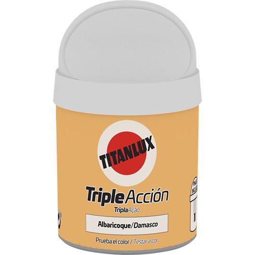 Pintura tester triple acción titanlux 75ml albaricoque