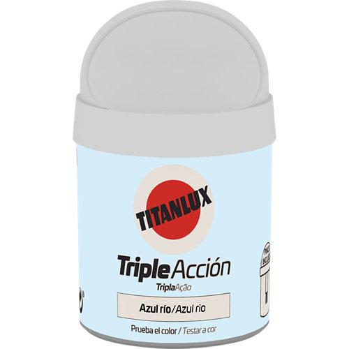 Pintura tester triple acción titanlux 75ml azul rio