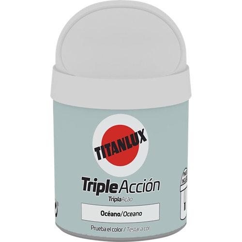 Pintura tester triple acción titanlux 75ml océano
