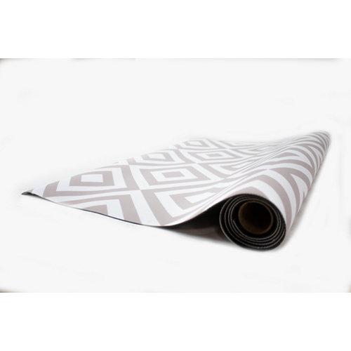 Alfombra de interior y exterior color beige geométrico hakuna rombo beige 230 x