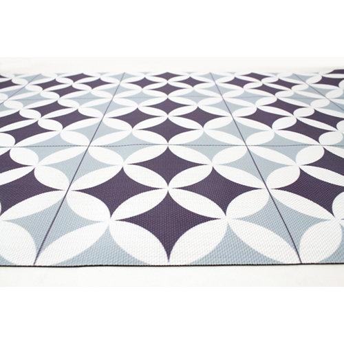 Alfombra de interior y de exterior color geométrico pvc 240cm x 160cm