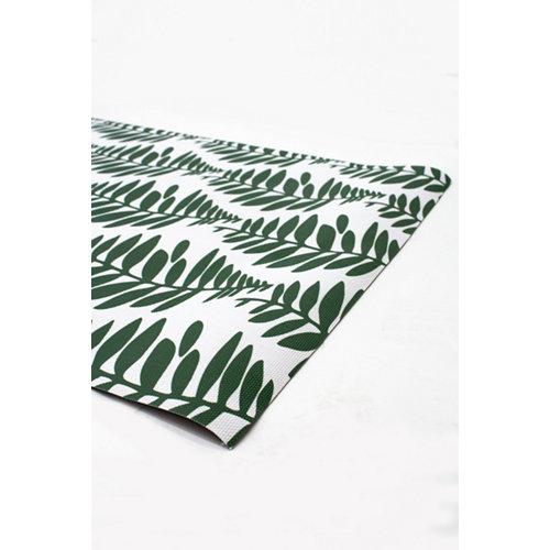 Alfombra de interior verde pvc hakuna hojas verdes 230 x 160cm
