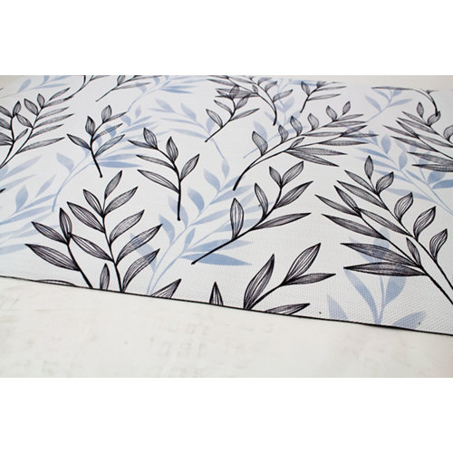 Alfombra de interior y de exterior color floral pvc 230cm x 160cm