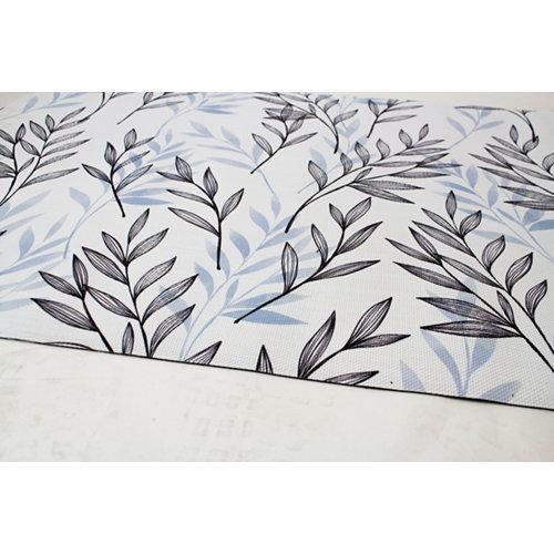 Alfombra de interior y de exterior color floral pvc 180cm x 120cm