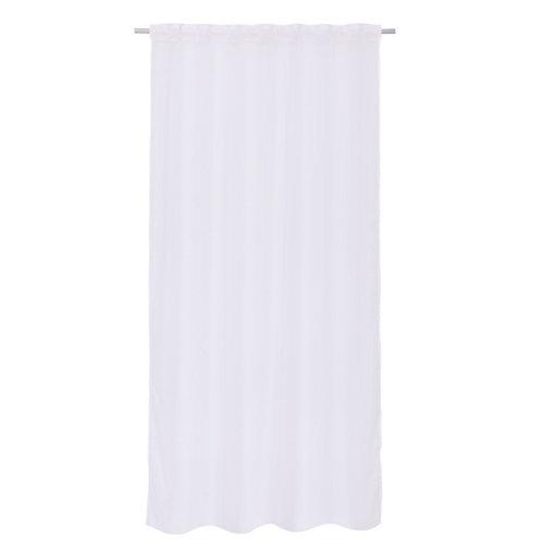Visillo con ollaos polyone blanco 140x280 cm