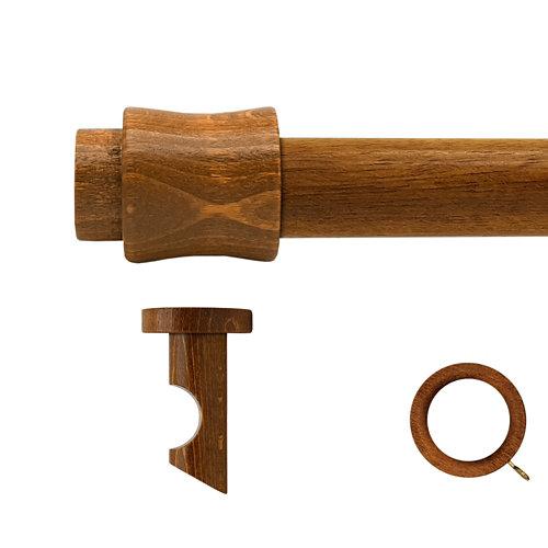 Kit barra madera ø 20mm cata roble 300cm c/anillas techo