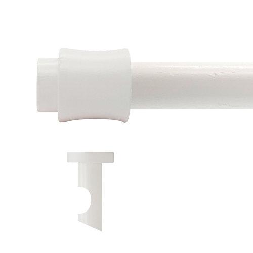 Kit barra madera ø 20mm cata blanco 200cm s/anillas techo