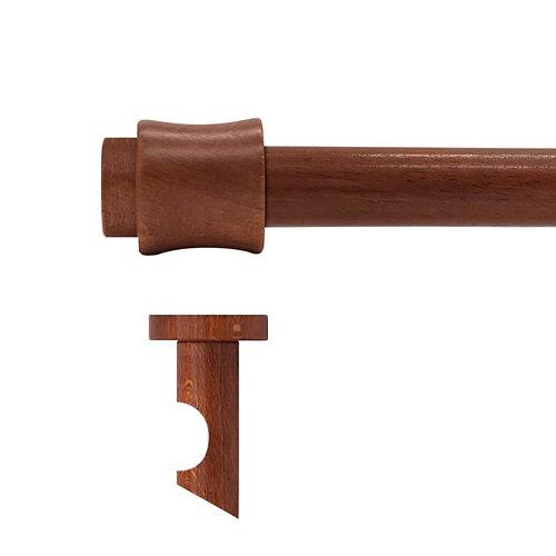 Kit barra madera ø 28mm cata cerezo 300cm s/anillas techo