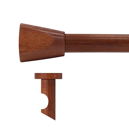 Kit barra madera ø 28mm meta cerezo 200cm s/anillas techo
